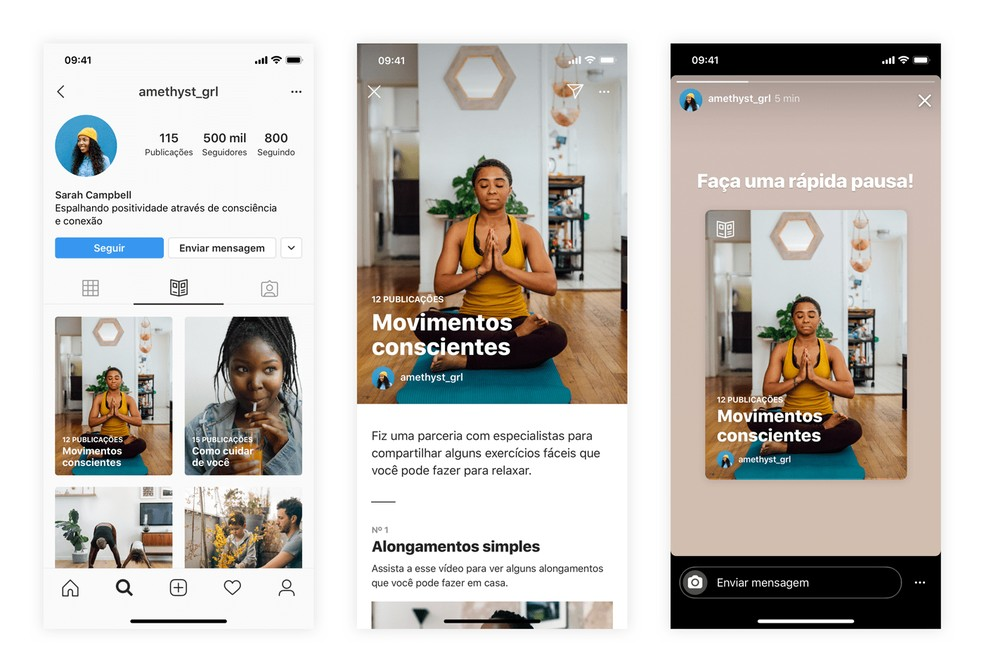 Novo recurso de produção de conteúdo do Instagram: guias. Novidades high-tech.