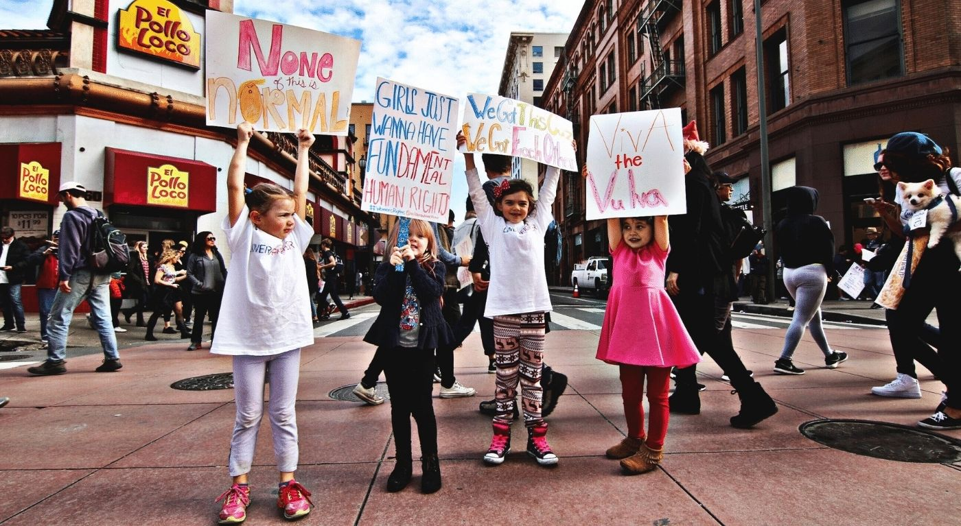 Protesto feminino carreira