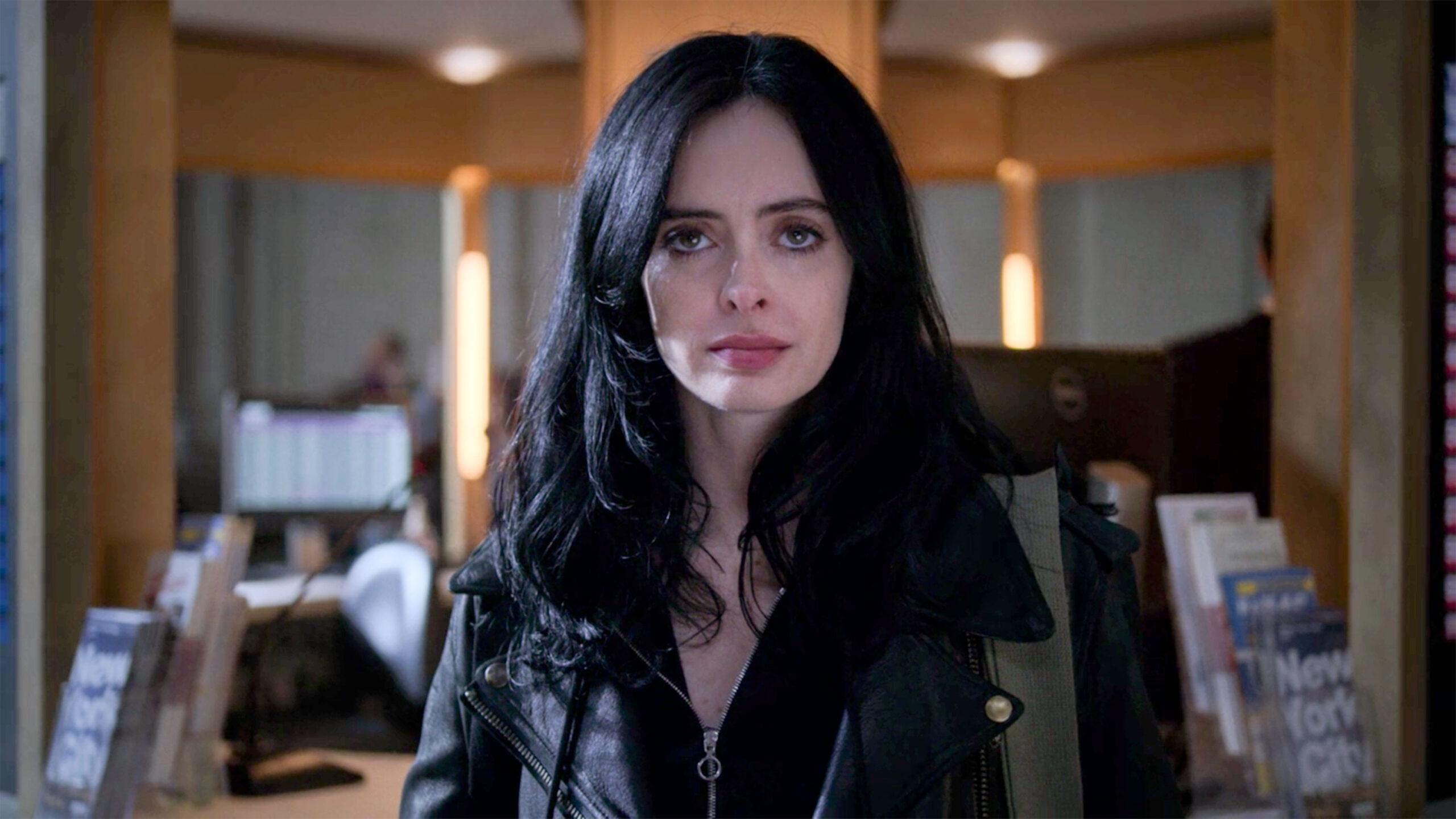 Jéssica Jones, personagem principal da série com o mesmo nome. Séries protagonizadas por mulheres