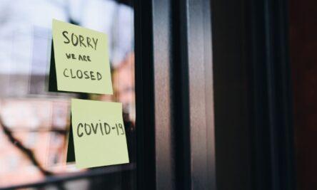 negócios fechados durante a pandemia