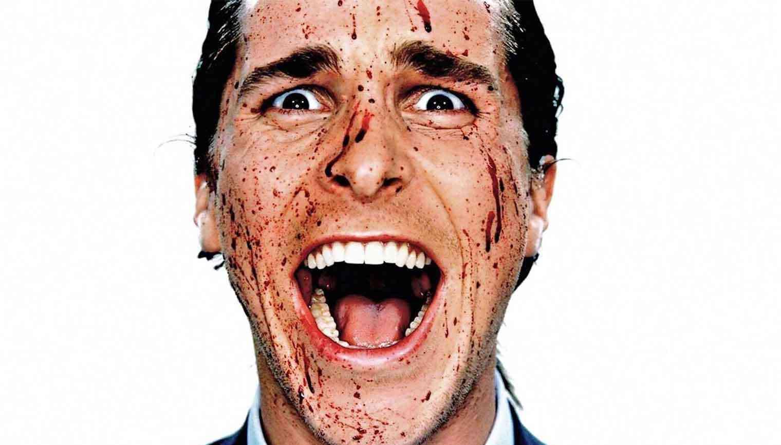 Personagem principal Patrick Bateman do filme Psicopata Amerciano, um dos filmes dirigidos por mulheres