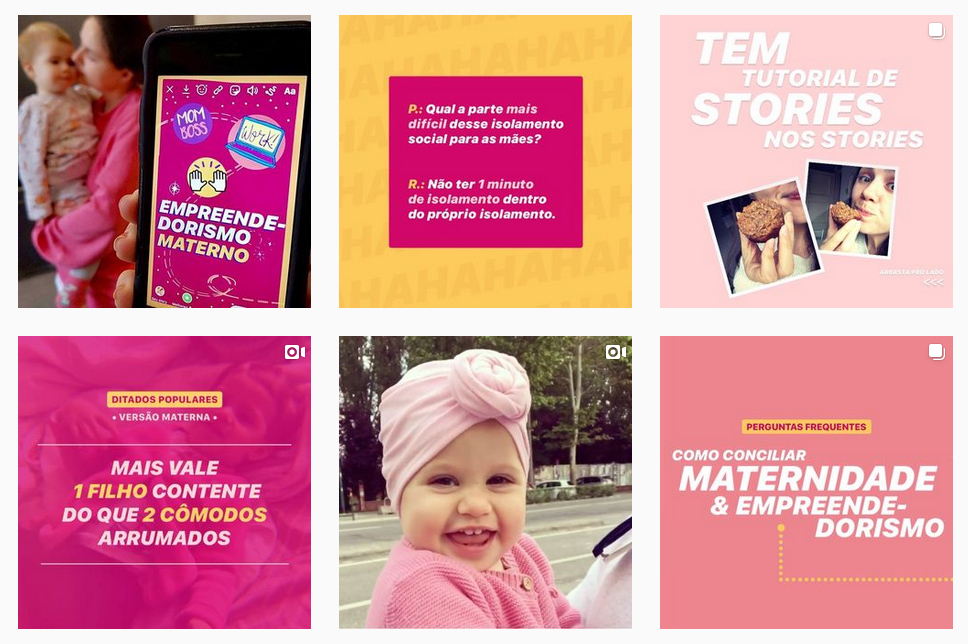 posto no Instagram - a importância da rede de apoio para a mãe empreendedora